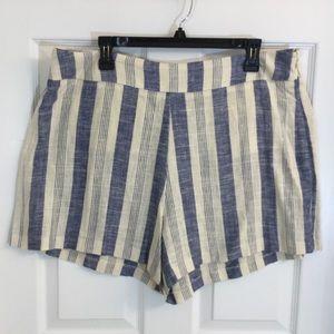 PRICE DROPPED! Madison Brand Navy/Cream Shorts NWT